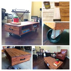 New coffee table for my home office area. #diy