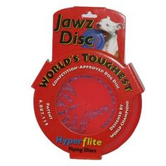 Hyperflite Jawz Mango Competition Dog Sport Disc, 8 3/4-Inch. Official disc of the World Canine Disc Championship Series. Professional quality disc that may achieve excellent distances. Extremely durable. X-Flash anti-glare technology is incorporated into each Jawz disc, for enhanced visibility. Made with modern polymers molded into an advanced aerodynamic form.