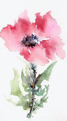""" © Watercolor on paper Fabriano Artistico 300 grs. Creation by Framboisine Berry. Handmade original concept and realisation. All rights reserved. Watercolor Poppies, Abstract Watercolor, Watercolor And Ink, Simple Watercolor Paintings, Watercolor Artists, Watercolor Portraits, Flower Power, Watercolor Pictures, Arte Floral"