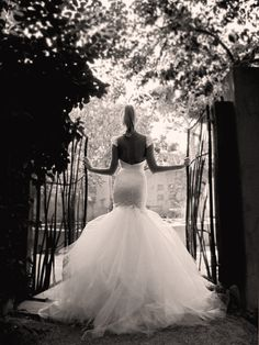 """AURELIA   Entrance with a heavenly vision of tulle and French lace in the dramatic mermaid-silhouetted """"Aurelia"""" gown from Lauren Elaine Bridal.   SHOP AURELIA: http://home.lauren-elainedesigns.com/collections/bridal/products/aurelia - Lauren Elaine Aurelia Gown. Mermaid wedding gown with tulle & lace."""