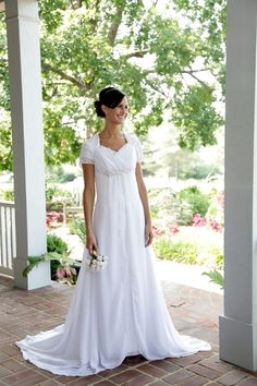 Katie by Epoch Collection. Modest wedding dresses. Gowns with sleeves