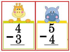 These flashcards are great for classroom practice on subtraction problems. Use them for your math drills to develop skill in mental math. Math Drills, Visual Aids, Picture Cards, Kindergarten Teachers, Flashcard, Best Teacher, Classroom, Education, School
