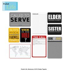 missionary scrapbook pages   Cute missionary Project Life cards!