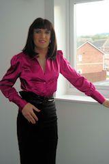Cerise pink wonderful on a Cross dressing Secretary