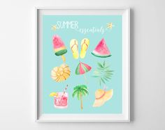 A few months ago, I created a winter essentials printable that shared some of my favorite cold-weather necessities. Today, I'm sharing a summer-themed version! With watercolor versions of some of my favorite things-popsicles, flip flops, seashells and more, this free printable is the perfect way to decorate your home for summer! summer essentials-aqua background summerRead More