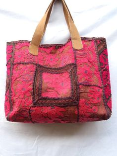Vintage+Embroidered+Women+Bag+Tote+Bag+Gujrati+Kutch+by+lavinas