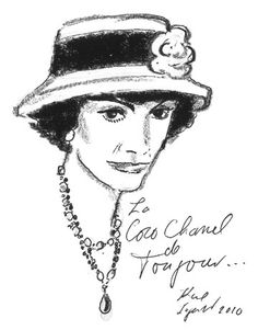 Coco Chanel Life Story - Illustrations of Coco Chanel by Karl Lagerfeld - Harper's BAZAAR