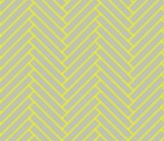 herringbone_lemon fabric by ravynka on Spoonflower - custom fabric