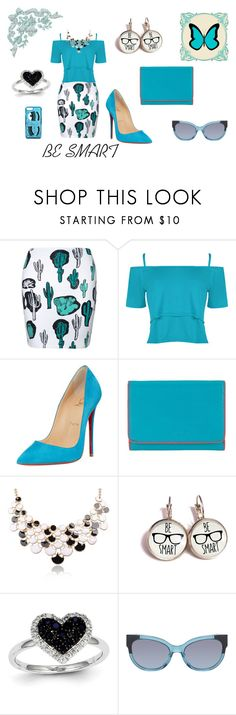 """""""Be Smart"""" by flowerbud77 on Polyvore featuring moda, WearAll, Christian Louboutin, Lodis, Kevin Jewelers, Marc by Marc Jacobs y Chiara Ferragni"""