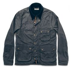 The Rover Jacket in Slate Beeswaxed Canvas
