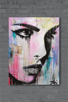 Tempest by Loui Jover Canvas - Pink Acrylic Portrait Painting, Abstract Tree Painting, Abstract Face Art, Portrait Art, Canvas Art Projects, Garage Art, Silhouette Art, Cool Drawings, Painting Inspiration