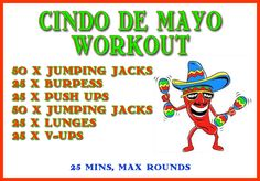 Before you knock back any cervezas, you need to knock out this quick Cinco De Mayo workout.