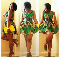 Lovely Ankara Skater Dress