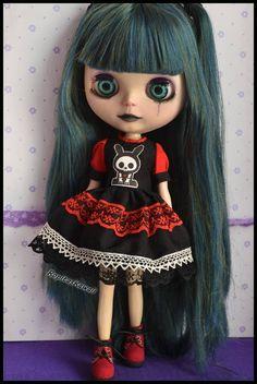 Dress for Blythe Pullip Doll and Obitsu size M.
