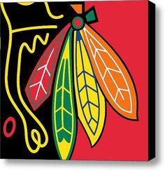Chicago Blackhawks Stretched Canvas Print / Canvas Art By Tony Rubino