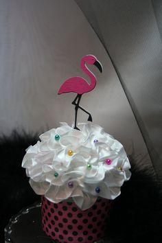 Flamingo Cupcake Toppers - Set of 12. $9.00, via Etsy.