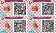 ichigocrossing:  It's pretty early for fall outfits, but I saw a mori coordinate that was really cute and decided to try my hand at making it in AC. :3