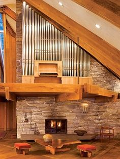 Angles and love of music define a dramatic house in the Catskills, New York by Nancy Copley Architects