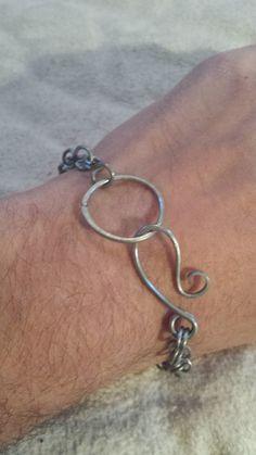 Items similar to Rustic Scrap Steel Bracelet on Etsy Wire Jewelry, Jewellery, Unique Jewelry, Uk Shop, My Etsy Shop, Scrap, Rustic, Steel, Trending Outfits