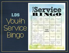 "Last week at our combined youth activity our young men were in charge, I was very impressed with it so I typed it up to share.  It was the typical ""BINGO"" are you all know it but with a twist, a se..."