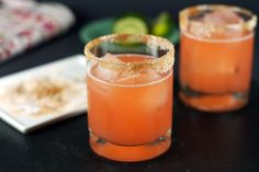 Grapefruit-Aperol Margarita~ Ruby Red grapefruit juice, Agave Tequila, Grand Marnier, Lime juice, Aperol...
