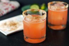 Grapefruit-Aperol Margarita~ Ruby Red grapefruit juice, Agave Tequila, Grand Marnier, Lime juice, Aperol...