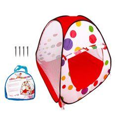Colorful Polka-Dotted Indoor Play Tent For kids, features a roll-up polka dot flap over the entrance and screened sides to provide privacy. Indoor Tent For Kids, Indoor Tents, Indoor Play, Best Christmas Presents, Made Goods, Polka Dots, Entrance, Bags, Colorful