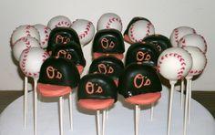 Baseball Hats and Baseballs (baseball theme party)