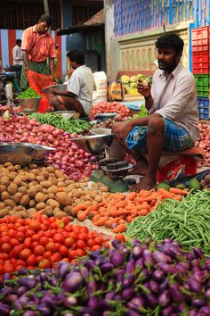 A Vegetable Vendor . Chengalpet Market -India