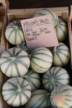 Melons - from the market in Lourmarin, France