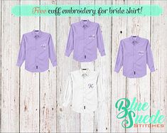 Monogram Button Down Bridal Shirt - Bridesmaid oxford shirts | monogrammed oxford shirts | Bride Shirt | bridal party gifts