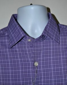 3ca3fe5282a0 21145 Mens Peter Millar Summer Comfort Plaid Performance Golf Dress Shirt  Large