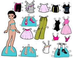 Marisole Monday Paper Dolls Colored by Melinda with some original outfits.
