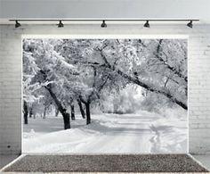 8x8FT Vinyl Photography Backdrop,Tree,Winter Scene Barren Branches Photoshoot Props Photo Background Studio Prop
