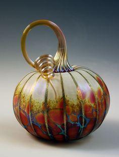 Hand blown glass pumpkins....