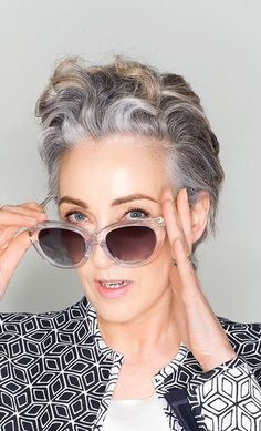 Salt and pepper gray hair. Grey hair. Silver hair. White hair. don't care. No dye. Dye free. Natural highlights. Aging and going gray gracefully.