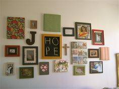 Wonderful collection of things on this wall - Dorm Room Decorating Ideas - Jennifer Taylor Design