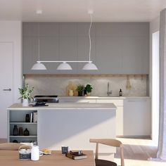 Love this beautiful light-filled kitchen diner via 👌🏻Good night all ✨ . Nordic Home, Scandinavian Home, Kitchen World, Good Night All, Kitchen Decor, Kitchen Design, Minimal Kitchen, Beautiful Lights, Minimalism
