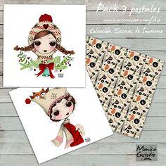 """Ya están aquí las postales nuevas.  Habéis ido viendo el proceso y ahora por fin ya han nacido. Podéis ver todos los detalles en www.monicacustodio.com / shop. Ya podemos empezar a felicitar! ♡☆♡☆"""""""