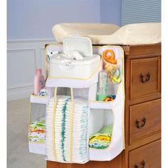 Creating storage space is very important in any room and the same goes for a baby nursery. If you are also looking for baby nursery storage and organization ideas, you can take a look at them here: 1 Changing Table Organization, Diaper Organization, Baby Nursery Organization, Nursery Storage, Storage Organization, Storage Ideas, Organizing, Nursery Bag, Diaper Storage