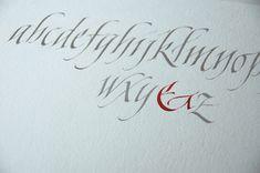 Style Chancelière moderne - Calligraphie de Julien Chazal