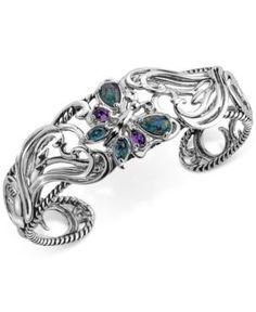 Multi-Gemstone Butterfly Bracelet (2-1/5 ct. t.w.) in Sterling Silver - Multi