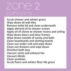 Zone 2 - bathrooms