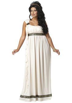 Olympic Goddess Costume big curvy plus size women are beautiful! Curves
