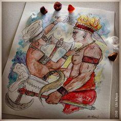 """Arte encomendada, destino: Salvador-BA. """"OYÁ BALÉ & SOGBO"""". Encomendas/orçamentos através do e-mail: notovic@gmail.com"""