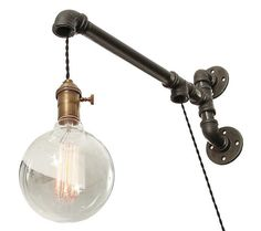 Industrial Pipe Suspended Wall Light $115