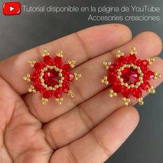Diy Beaded Earrings Tutorial, Diy Earrings Patterns, Earring Tutorial, Seed Bead Jewelry, Bead Jewellery, Beading Tutorials, Beading Patterns, Beaded Anklets, Bead Crafts