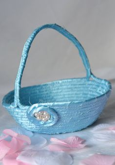 Use etsy discount coupon code pinten handmade easter basket and 1 i handmade this pretty flower girl basket handmade by me mightylinksfo