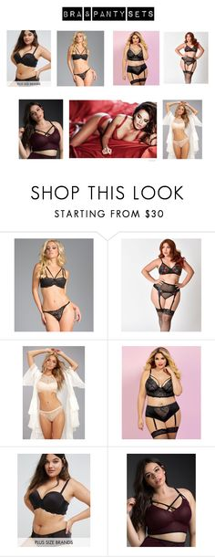 """""""Bra & Panty Sets"""" by emailjanetkaufman ❤ liked on Polyvore featuring Be Wicked, WishList, Seven 'til Midnight, City Chic, Torrid and plus size clothing"""