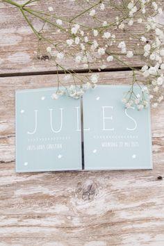 Geboortekaartje Jules - Ontwerp door Leesign - www.leesign.nl #geboortekaartje…